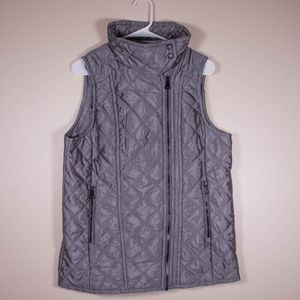 Marc New York by Andrew Marc Silver Quilted Vest